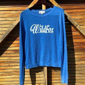 WILDFOX blue beach jumper sweater